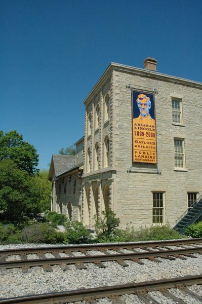 Gaylord Building & Abraham Lincoln Poster