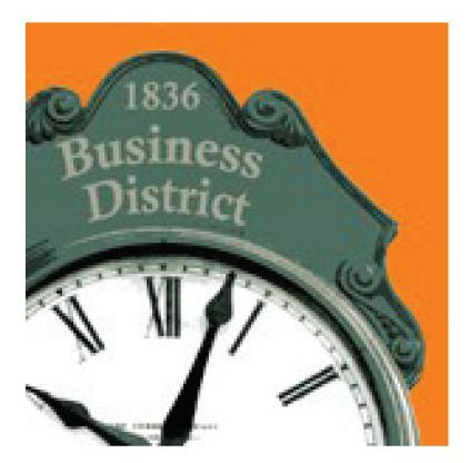 Business District Clock